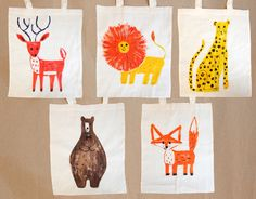 All Things Bright & Beautiful animal tote bag