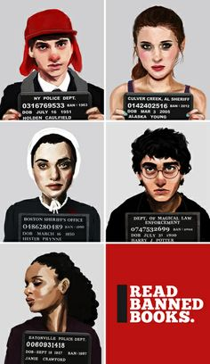 Banned Books Mugshots <3!