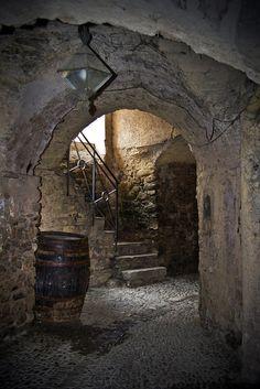 Covered alley - Dolceacqua, Liguria, Italy