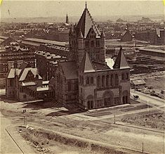 Trinity Church...pre-Copley Square. 1875.  I'd say it looks a bit different today.