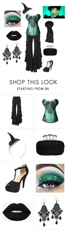 """""""Casual Elphaba Costume"""" by chicastic on Polyvore featuring Jonathan Simkhai and Crown and Glory"""