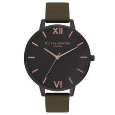 After Dark IP Black, Khaki & Rose Gold | Olivia Burton London