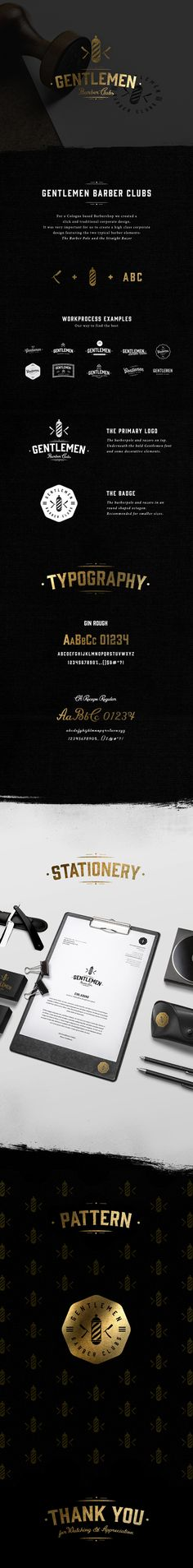 Black and gold branding