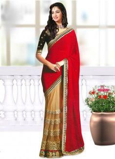 CREAM AND MAROON GEORGETTE EMBROIDERY DESIGNER SAREE#Designer #Saree  #anarkali #SalwarSuits #Kurtis #Gown #LehengaCholi #jewellery   #UttamVastra  #EthnicWear #price #onlineshopping #indianwear #buyonline #instagram #fashionjewellery #trendydress #Silk #Embroidery