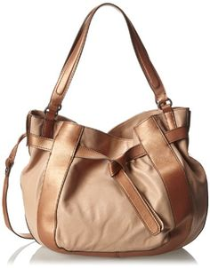 """Kooba Handbags Parker Shoulder Bag,Nude/Bronze,One Size - The price dropped 20%. Lots of similar bags just went on sale at amazon and are $30 or more off their original price! These types of """"broad category"""" sales often don't last long - check it out before the prices go back up! #frugal #savingmoney"""