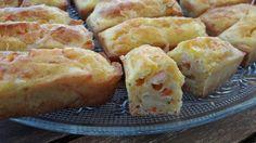 Mini-cakes au saumon et julienne de légumes