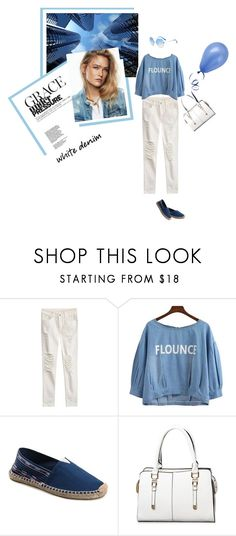 """Luli"" by stellina-from-the-italian-glam ❤ liked on Polyvore featuring white, CasualChic, whitejeans and cheapandchic"
