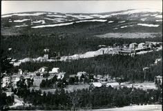 Folldal verk Hedmark fylke gruvene i bakgrunnen stp 1953 Foto: E.K. Barth Norway, Mountains, Nature, Travel, Outdoor, Historia, Outdoors, Naturaleza, Viajes