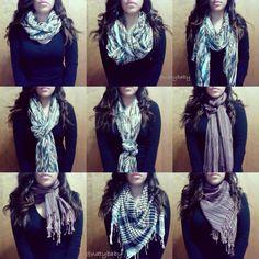 Ideas For How To Wear Pashminas Scarf Leggings Ways To Wear A Scarf, How To Wear Scarves, Tie Scarves, Cute Fashion, Womens Fashion, Fashion Tips, Fashion Trends, Poncho, Scarf Styles