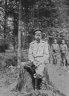Last known photo of Czar Nicholas II before the execution at Ekaterinberg.