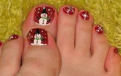 Amazing Christmas Toe Nail Art Designs