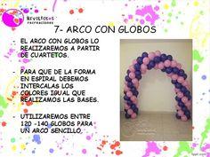 7   ARCOS CON GLOBOS CURSO DECORACION CON GLOBOS   BALLOON DECORATION CO...