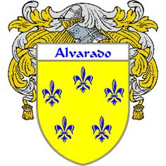 Alvarado Coat of Arms   http://spanishcoatofarms.com/ has a wide variety of products with your Hispanic surname with your coat of arms/family crest, flags and national symbols from Mexico, Peurto Rico, Cuba and many more available upon request.