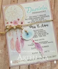 debut ideas Judicious formed quinceanera party ideas Watch now Invitation Design, Invitation Cards, Party Invitations, Boho Chic, Mundo Silhouette, 15th Birthday, Birthday Parties, Bohemian Invitation, Bohemian Party