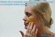 Vous voulez avoir une peau éclatante et un teint magnifique ? Pour être au top pour une sortie, laissez tomber vos crèmes habituelles hors de prix ! Je connais une astuce surprenante pour avoir une peau rayonnante. Il suffit de faire un masque à la moutarde.   Découvrez l'astuce ici : http://www.comment-economiser.fr/masque-visage-surprenant.html?utm_content=buffer57906&utm_medium=social&utm_source=pinterest.com&utm_campaign=buffer