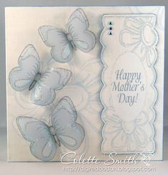 Digi-re-doo-dah: Sheer Flowers Butterfly Cards