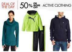 50% or More Off Active Clothing for Men, Women, & Kids **Today Only** - http://www.swaggrabber.com/?p=280210