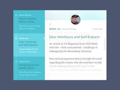 Article Feed UI // flat design // layout