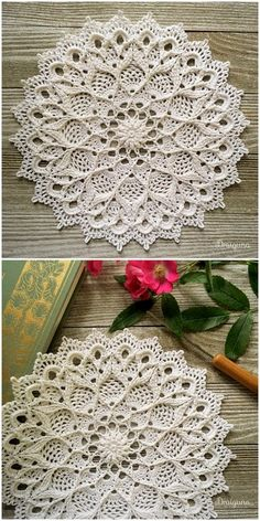 Heavenly flower doilies free crochet patternHeavenly Flower Doily Free crochet pattern by May KhalafPatterns and motifs: crochet motif and motifs: crochet motif and latest free crochet patterns - DIY rusticsMatt patternHeavenly Flower Doily Thread Crochet, Knit Or Crochet, Crochet Motif, Mandala Crochet, Crochet Flower, Free Crochet Doily Patterns, Crochet Designs, Knitting Patterns, Crochet Home