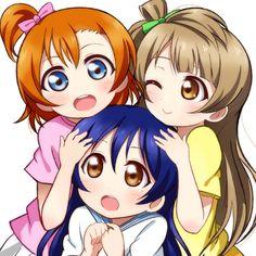 Tags: Love Live!, Kousaka Honoka, Minami Kotori, Sonoda Umi, Pixiv Id 104555