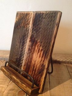 Wood Tablet Holder Recipe Book Stand IPad by SpudsCreativeAsylum