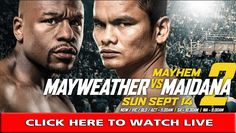 Mayweather v Maidana 2 - Mayhem in Las Vegas. Get your tickets now! Floyd Mayweather Boxing, Mayweather Vs Mcgregor, Pay Per View, Fight Club, Martial Arts, Acting, Stream Online, Live, Watch