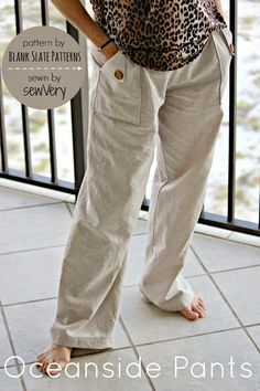 Oceanside Pants with sewVery - Blank Slate Sewing Team - Melly Sews