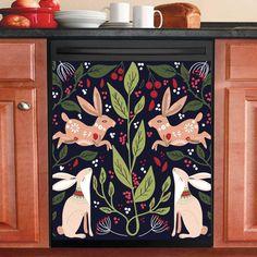 Dishwasher Cover, Dishwasher Magnet, Scandinavian Folk Art, Mandala Design, Country Decor, Painted Furniture, Painted Rug, Diy Home Decor, Kitchen Decor