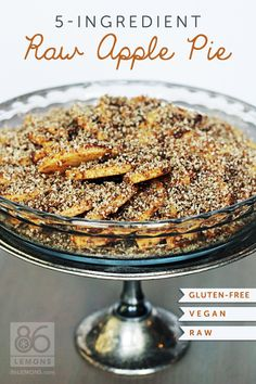 This looks like a yummy health desert :) Test Report: 5-Ingredient Raw Apple Pie (vegan, gf)