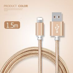 Newest  Braided Nylon Line And Metal Plug Original Micro USB Cable for iPhone 7 /type-c 1.5M  Data Charger Cable for iPhone //Price: $US $2.82 & FREE Shipping //     #iphone