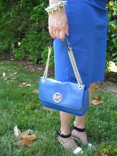 Michael Kors bright blue purse