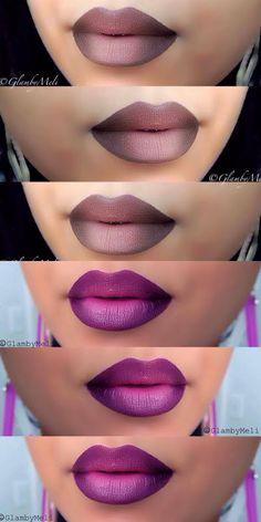 O efeito ombré ganhou um espaço especial nas makes também. Adoramos! E vocês? #beauty #ombré #lips #make