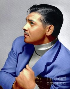 Clark Gable, Vintage Movie Star by Esoterica Art Agency Hollywood Men, Old Hollywood Movies, Hollywood Icons, Old Hollywood Glamour, Hollywood Fashion, Classic Hollywood, Vintage Movie Stars, Old Movie Stars, Vintage Movies