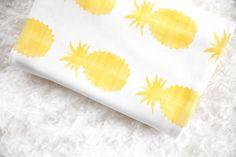 Little Woolf™ Swaddle Blanket in Golden Pineapple by woolfwithme on Etsy https://www.etsy.com/listing/192480552/little-woolf-swaddle-blanket-in-golden