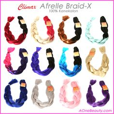 "New Colors Arrived - 100% Kanekalon Afrelle Braid-X 44"" http://www.aonebeauty.com/climax-afrelle-braid-x/ ‪#‎hairextensions‬ ‪#‎braids‬ ‪#‎kanekalon‬ ‪#‎hairstyles‬ ‪#‎beauty‬"