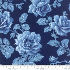 Sold by half yard increments (Multiple quantities will be in a continuous piece) Regency Blues - Reproduction Berwick 1870 English Blue by Christopher Wilson Tate for Moda Fabrics SKU: 42301 15 Cotton Width: Fat Quarters, Blue Fabric, Cotton Fabric, Christopher Wilson, Etsy Fabric, Thing 1, Block Of The Month, Quilt Kits, English Roses