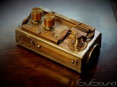 My new steampunk style guitar pedal #steampunk, #guitar, #pedal