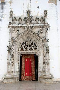 Porche de l'eglise de Tomar - Portugal