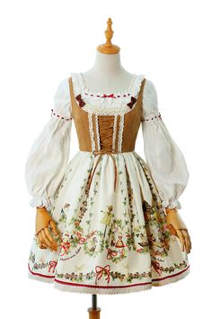 Yolanda -Fleurs et écho- Classic Lolita Jumper Dress