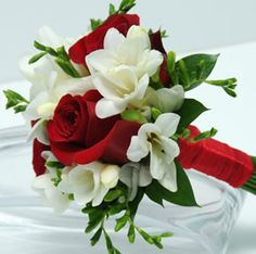 Wedding -- Just ordered this beautiful 3-Rose w/ white freesia bouquet for my big day. :)