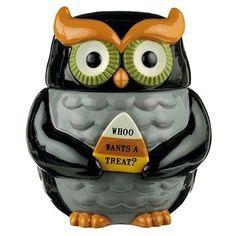 469975 Midnight Owl Collection Owl Cookie Jar Kitchen Decor Halloween