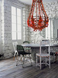 pretty red chandelier