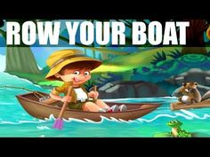▶ Row Row Row Your Boat - Kids Song with Lyrics - Children Music Video - Nursery Rhymes - YouTube