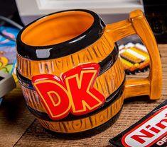 Donkey Kong Barrel-Shaped Mug
