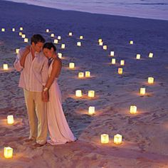 love the candles at night on the beach!