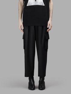 JUUN.J Juun.J Men'S Black Cargo Cropped Pant. #juun.j #cloth #trousers