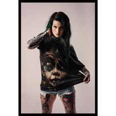 """Damned In Black"" T available at www.crmc-clothing.co.uk  Model - @lusylogan Photography by @jt14photography #pharaoh #tattooedwomen #hot #blackmetal #womenwithtattoos #tattooedmodels #beautiful #blackwear #alternative #alternativefashion #alternativestyle #blackmetalpharaoh #fashionstatement #fashiongram #corpsepaint #ancientegypt #blackmetalgirl #fashion #fashionoftheday #dailyfashion #styles #style #alternative"