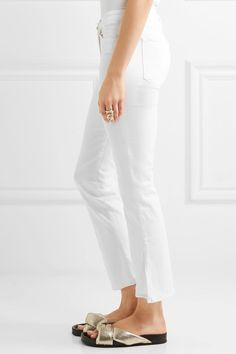 3x1 - W2 Split Bell Crop Mid-rise Straight-leg Jeans - White - 28