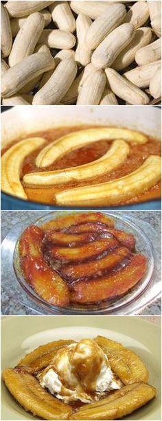 GENTE,ESSA BANANA CARAMELIZADA FICA DIVINA..APRENDA PASSO A PASSO!! VEJA AQUI>>>Corte as bananas do tamanho que desejar Despeje o açúcar em uma panela média junto com as bananas #receita#bolo#torta#doce#sobremesa#aniversario#pudim#mousse#pave#Cheesecake#chocolate#confeitaria