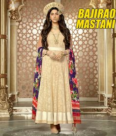 Get #BajiraoMastani Designer Long #Anarkali #Salwar #Suit. Buy Online & Save More. http://www.shoppers99.com